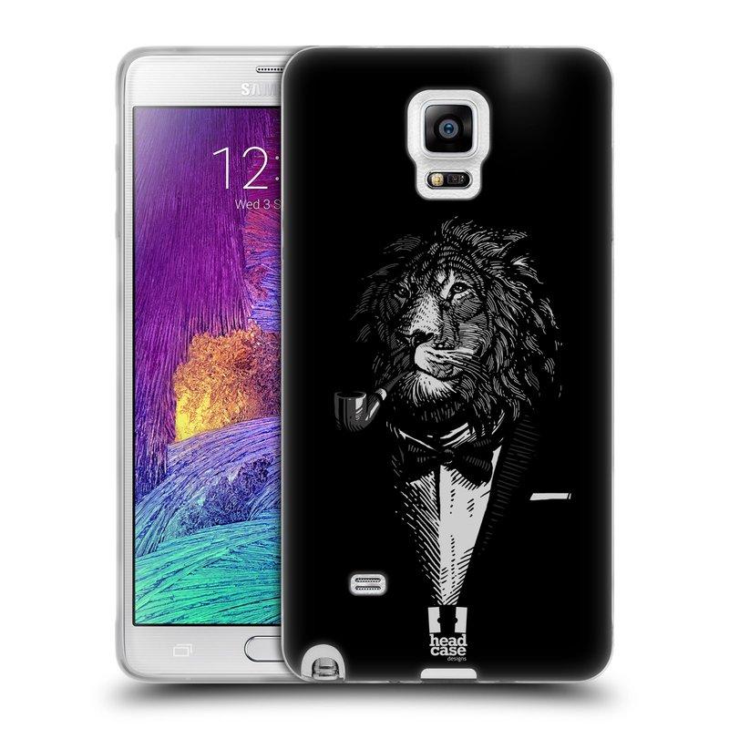 Silikonové pouzdro na mobil Samsung Galaxy Note 4 HEAD CASE LEV V KVÁDRU (Silikonový kryt či obal na mobilní telefon Samsung Galaxy Note 4 SM-N910F)