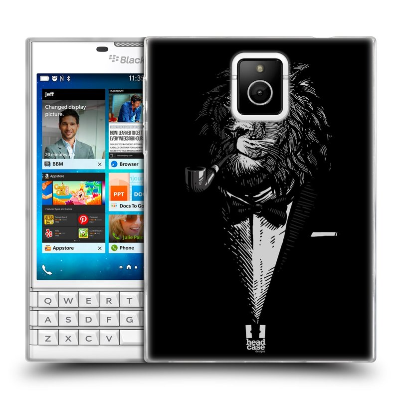 Silikonové pouzdro na mobil Blackberry PASSPORT HEAD CASE LEV V KVÁDRU (Silikonový kryt či obal na mobilní telefon Blackberry PASSPORT)