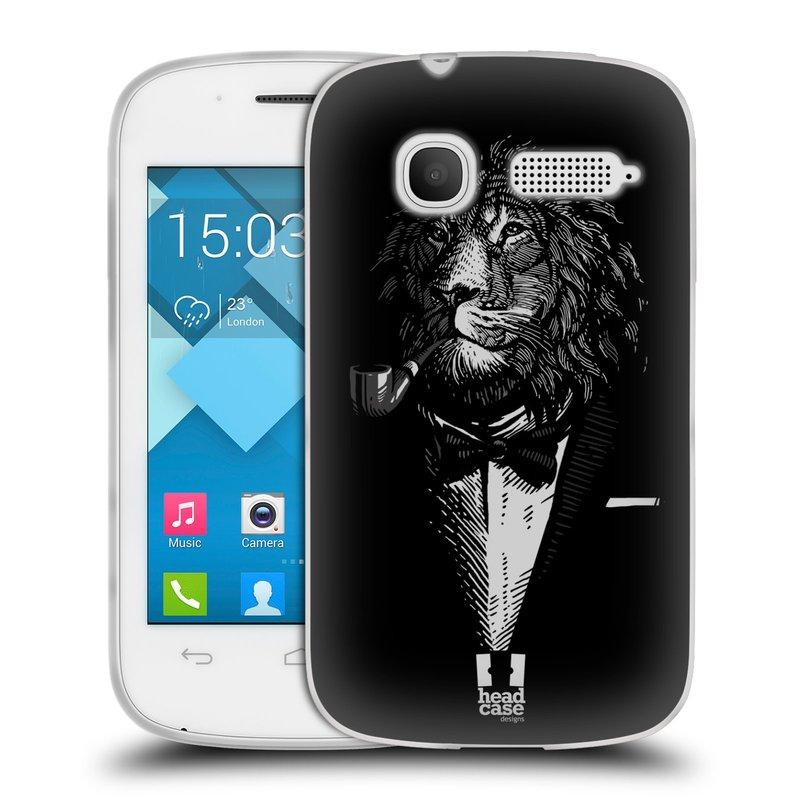 Silikonové pouzdro na mobil Alcatel One Touch Pop C1 HEAD CASE LEV V KVÁDRU (Silikonový kryt či obal na mobilní telefon Alcatel OT-4015D POP C1)
