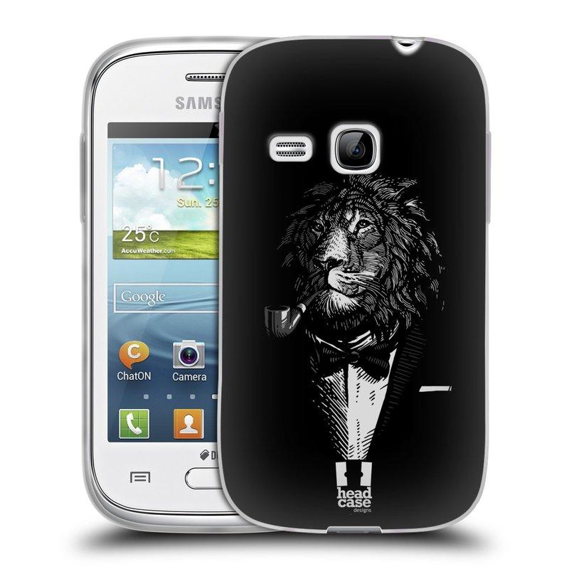 Silikonové pouzdro na mobil Samsung Galaxy Young HEAD CASE LEV V KVÁDRU (Silikonový kryt či obal na mobilní telefon Samsung Galaxy Young GT-S6310)