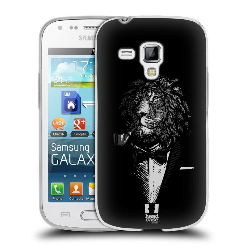 Silikonové pouzdro na mobil Samsung Galaxy Trend Plus HEAD CASE LEV V KVÁDRU (Silikonový kryt či obal na mobilní telefon Samsung Galaxy Trend Plus GT-S7580)