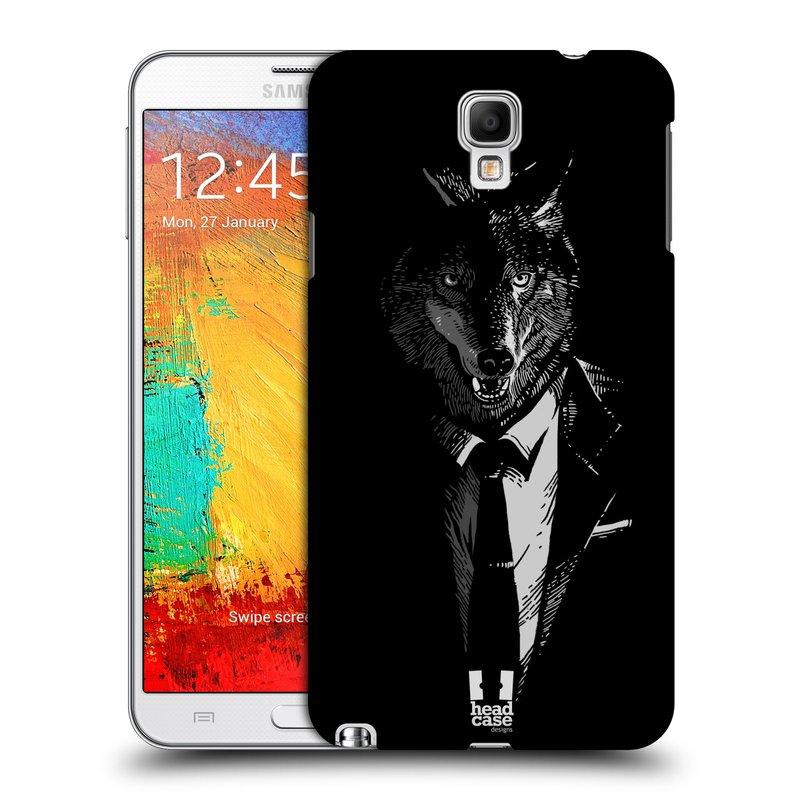 Plastové pouzdro na mobil Samsung Galaxy Note 3 Neo HEAD CASE VLK V KVÁDRU (Kryt či obal na mobilní telefon Samsung Galaxy Note 3 Neo SM-N7505)