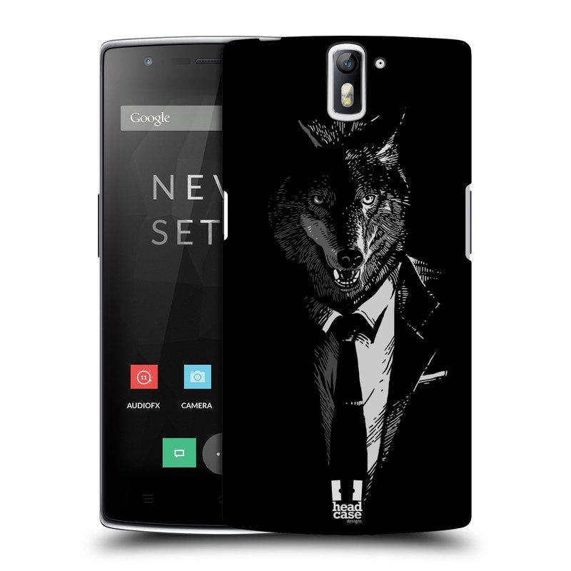 Plastové pouzdro na mobil OnePlus One HEAD CASE VLK V KVÁDRU (Kryt či obal na mobilní telefon OnePlus One)