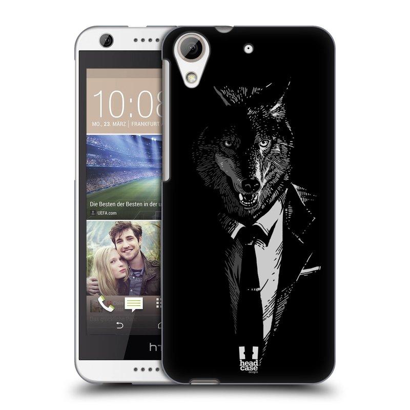 Plastové pouzdro na mobil HTC Desire 626 / 626G HEAD CASE VLK V KVÁDRU (Kryt či obal na mobilní telefon HTC Desire 626G Dual SIM a HTC Desire 626)