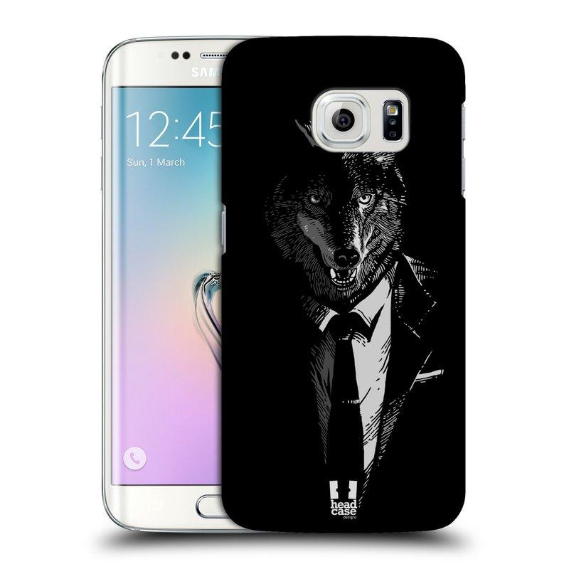 Plastové pouzdro na mobil Samsung Galaxy S6 Edge HEAD CASE VLK V KVÁDRU (Kryt či obal na mobilní telefon Samsung Galaxy S6 Edge SM-G925F)
