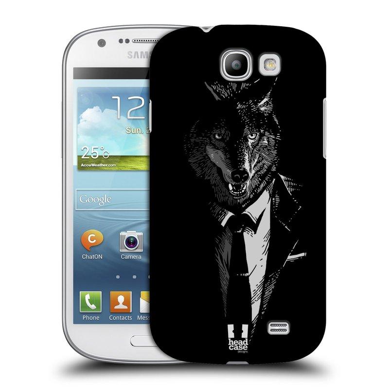 Plastové pouzdro na mobil Samsung Galaxy Express HEAD CASE VLK V KVÁDRU (Kryt či obal na mobilní telefon Samsung Galaxy Express GT-i8730)