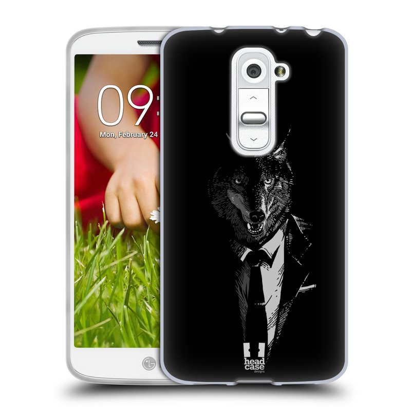 Silikonové pouzdro na mobil LG G2 Mini HEAD CASE VLK V KVÁDRU (Silikonový kryt či obal na mobilní telefon LG G2 Mini D620)