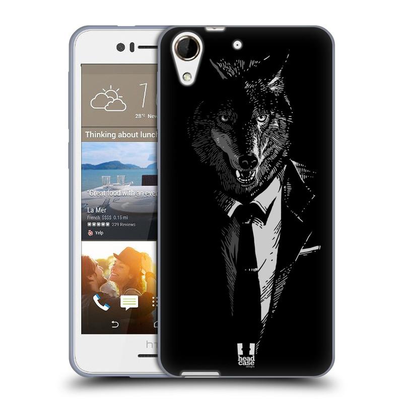 Silikonové pouzdro na mobil HTC Desire 728G Dual SIM HEAD CASE VLK V KVÁDRU (Silikonový kryt či obal na mobilní telefon HTC Desire 728 G Dual SIM)