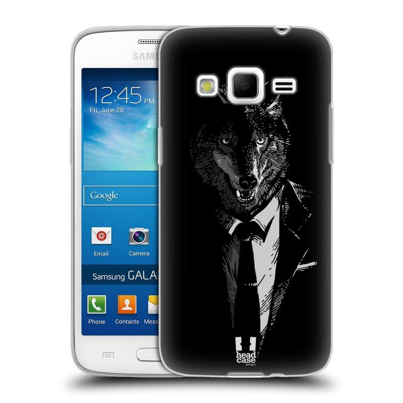 Silikonové pouzdro na mobil Samsung Galaxy Express 2 HEAD CASE VLK V KVÁDRU (Silikonový kryt či obal na mobilní telefon Samsung Galaxy Express 2 SM-G3815)