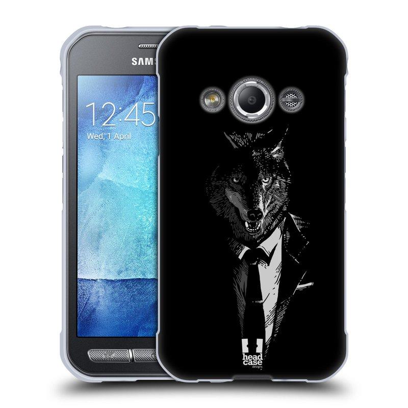 Silikonové pouzdro na mobil Samsung Galaxy Xcover 3 HEAD CASE VLK V KVÁDRU (Silikonový kryt či obal na mobilní telefon Samsung Galaxy Xcover 3 SM-G388F)
