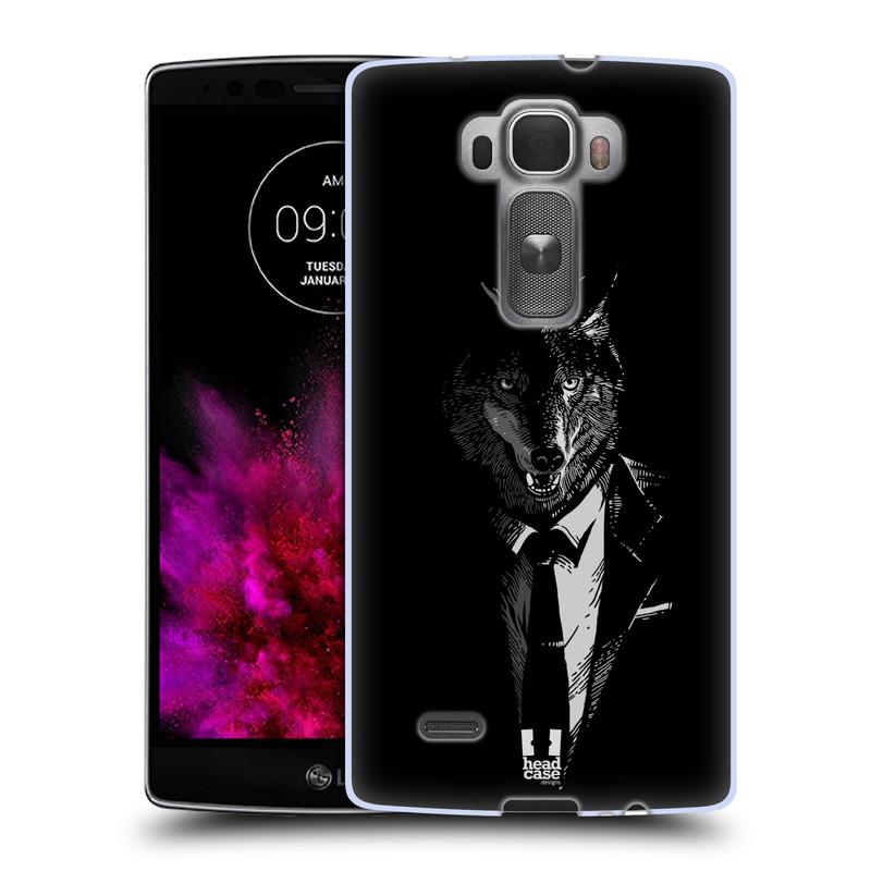 Silikonové pouzdro na mobil LG G Flex 2 HEAD CASE VLK V KVÁDRU (Silikonový kryt či obal na mobilní telefon LG G Flex 2 H955)