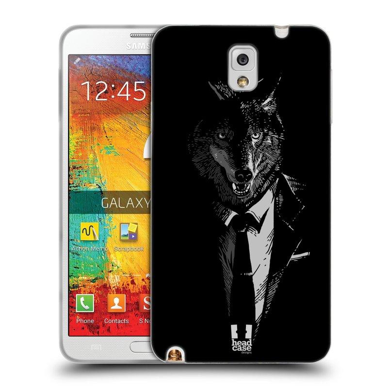 Silikonové pouzdro na mobil Samsung Galaxy Note 3 HEAD CASE VLK V KVÁDRU (Silikonový kryt či obal na mobilní telefon Samsung Galaxy Note 3 SM-N9005)