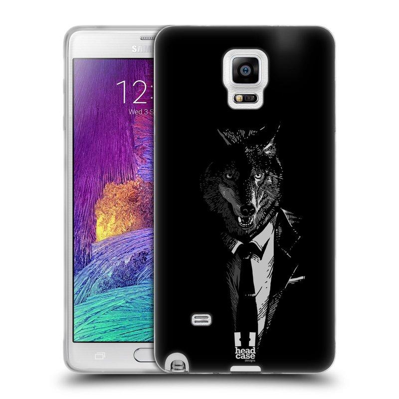 Silikonové pouzdro na mobil Samsung Galaxy Note 4 HEAD CASE VLK V KVÁDRU (Silikonový kryt či obal na mobilní telefon Samsung Galaxy Note 4 SM-N910F)