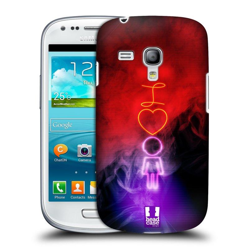 Plastové pouzdro na mobil Samsung Galaxy S III Mini HEAD CASE NEON I LOVE HER (Kryt či obal na mobilní telefon Samsung Galaxy S III Mini GT-i8190)