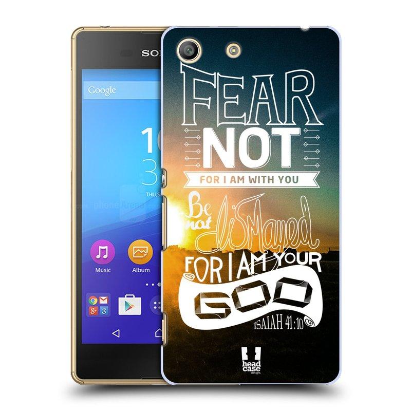 Plastové pouzdro na mobil Sony Xperia M5 HEAD CASE FEAR (Kryt či obal na mobilní telefon Sony Xperia M5 Aqua)