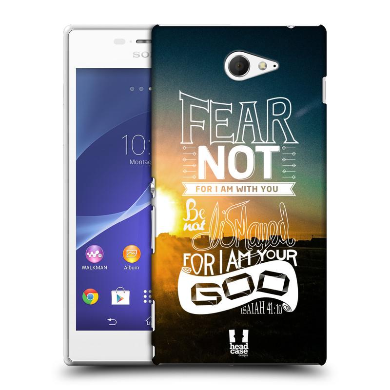 Plastové pouzdro na mobil Sony Xperia M2 D2303 HEAD CASE FEAR (Kryt či obal na mobilní telefon Sony Xperia M2 )
