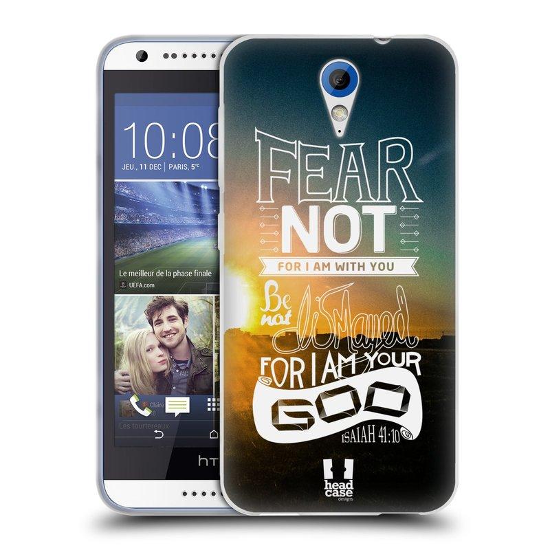 Silikonové pouzdro na mobil HTC Desire 620 HEAD CASE FEAR (Silikonový kryt či obal na mobilní telefon HTC Desire 620)