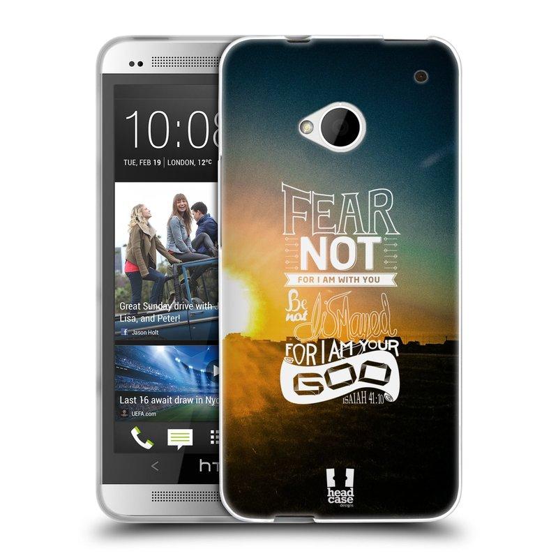 Silikonové pouzdro na mobil HTC ONE M7 HEAD CASE FEAR (Silikonový kryt či obal na mobilní telefon HTC ONE M7)