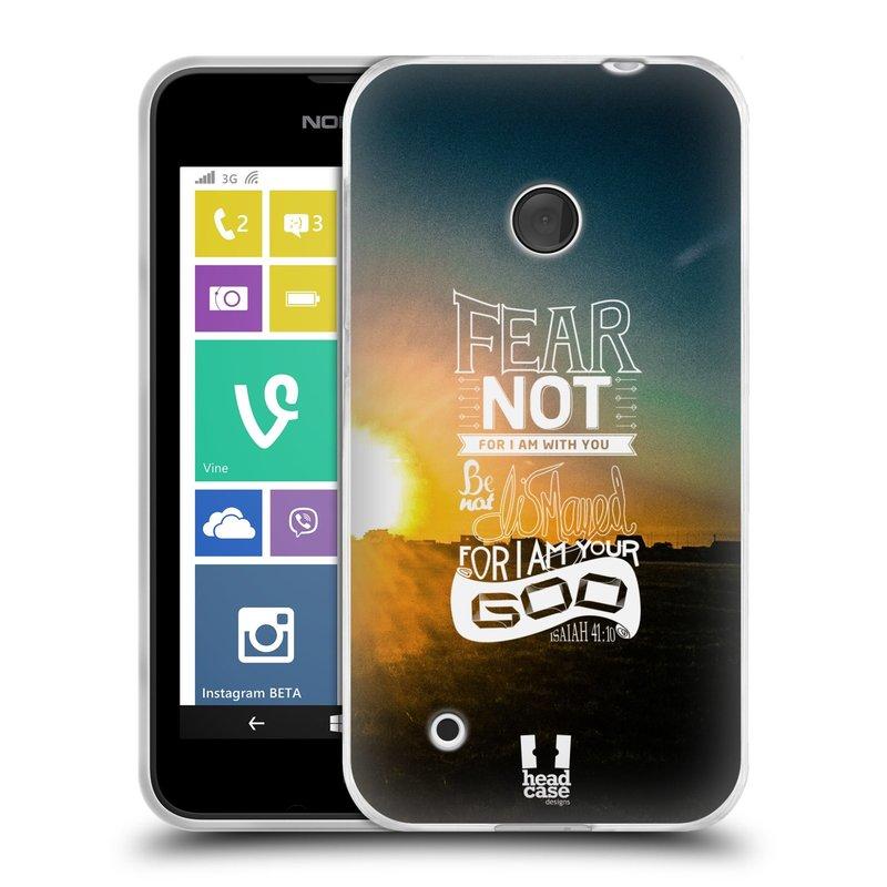 Silikonové pouzdro na mobil Nokia Lumia 530 HEAD CASE FEAR (Silikonový kryt či obal na mobilní telefon Nokia Lumia 530)