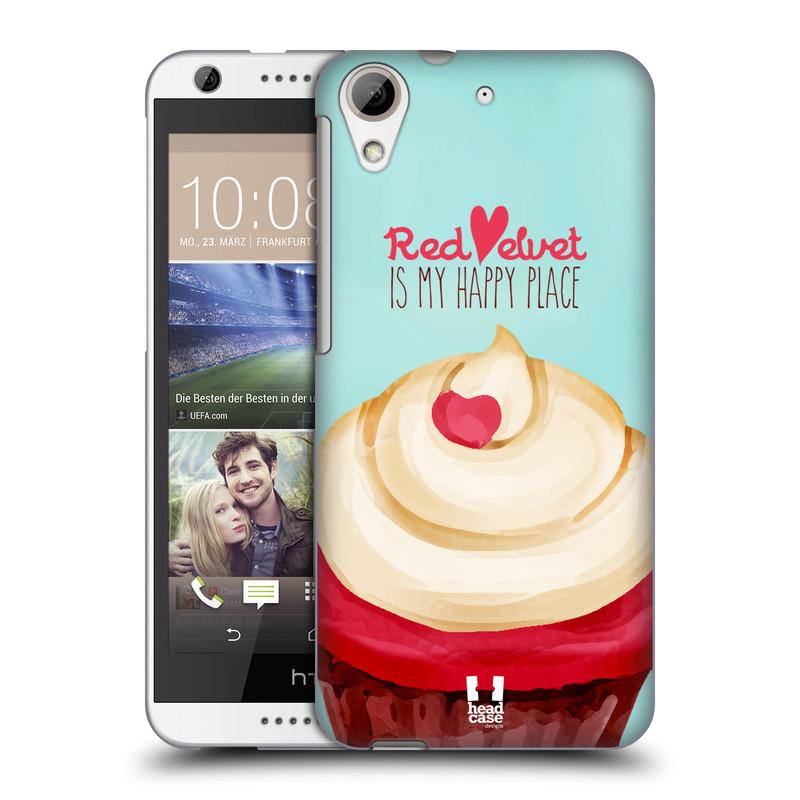 Plastové pouzdro na mobil HTC Desire 626 / 626G HEAD CASE CUPCAKE RED VELVET (Kryt či obal na mobilní telefon HTC Desire 626G Dual SIM a HTC Desire 626)