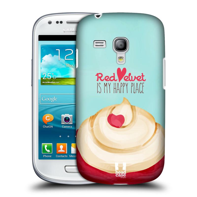 Plastové pouzdro na mobil Samsung Galaxy S III Mini HEAD CASE CUPCAKE RED VELVET (Kryt či obal na mobilní telefon Samsung Galaxy S III Mini GT-i8190)