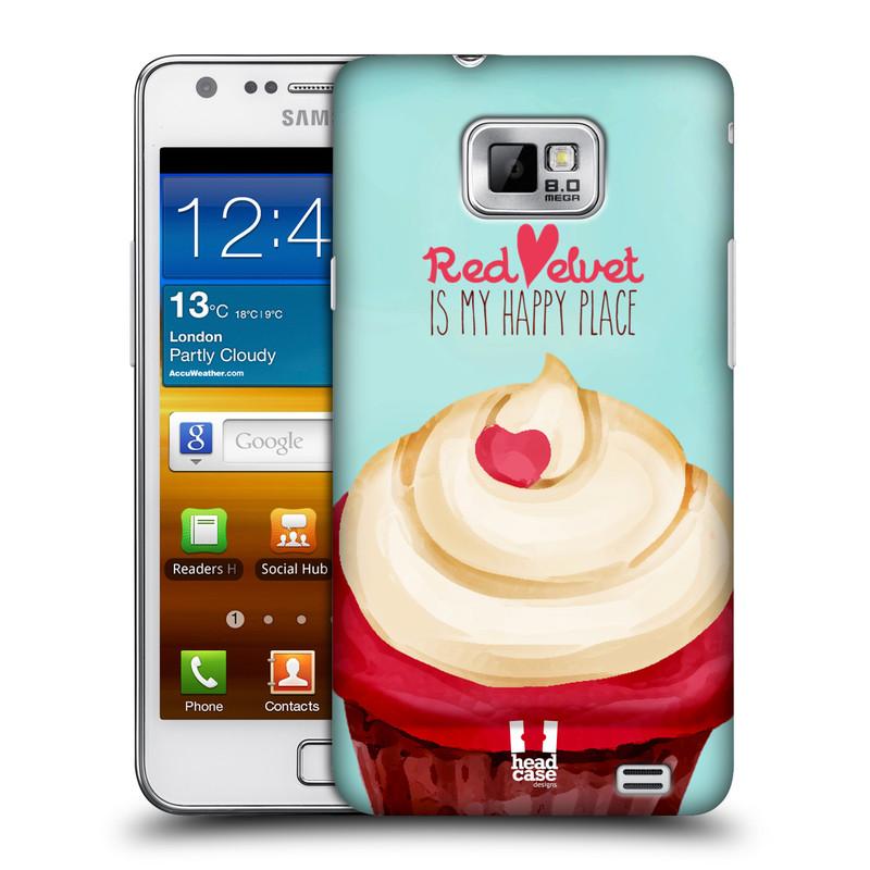 Plastové pouzdro na mobil Samsung Galaxy S II HEAD CASE CUPCAKE RED VELVET (Kryt či obal na mobilní telefon Samsung Galaxy S II GT-i9100)