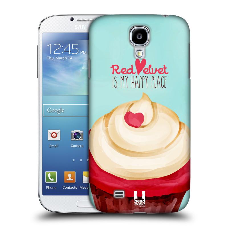 Plastové pouzdro na mobil Samsung Galaxy S4 HEAD CASE CUPCAKE RED VELVET (Kryt či obal na mobilní telefon Samsung Galaxy S4 GT-i9505 / i9500)