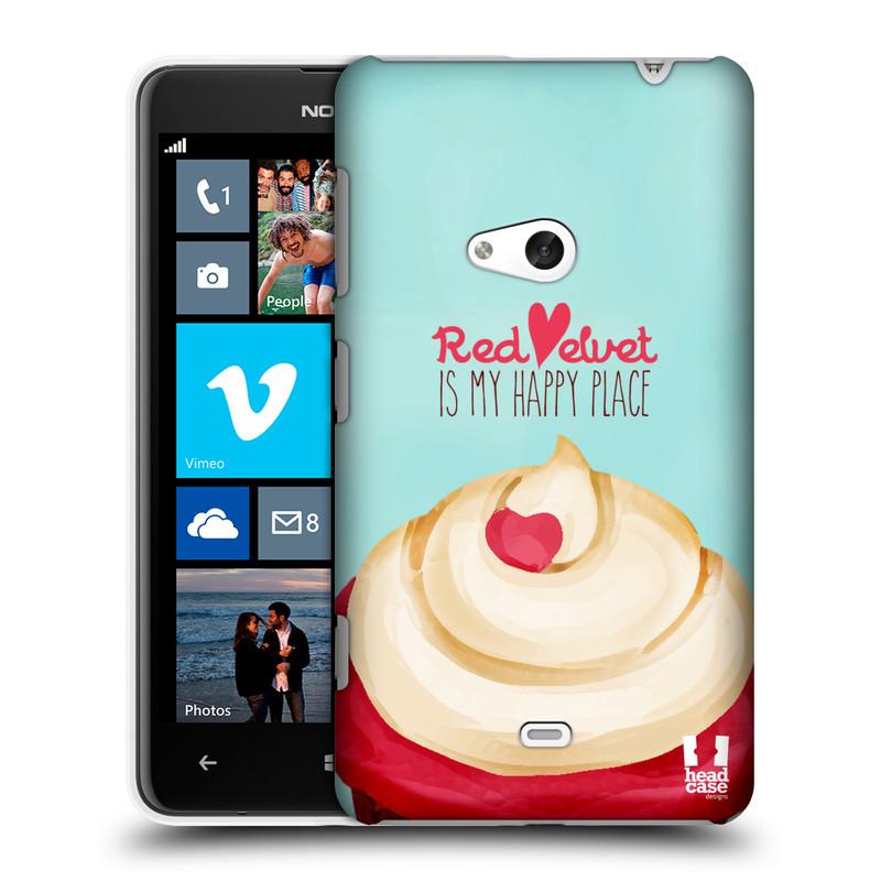 Plastové pouzdro na mobil Nokia Lumia 625 HEAD CASE CUPCAKE RED VELVET (Kryt či obal na mobilní telefon Nokia Lumia 625)