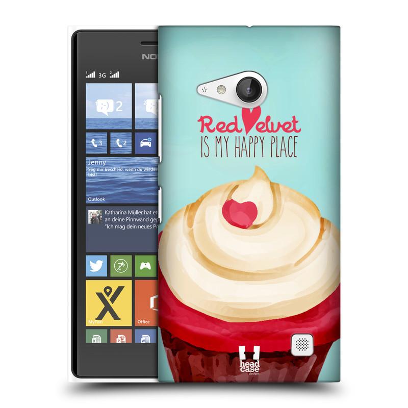 Plastové pouzdro na mobil Nokia Lumia 730 Dual SIM HEAD CASE CUPCAKE RED VELVET (Kryt či obal na mobilní telefon Nokia Lumia 730 Dual SIM)