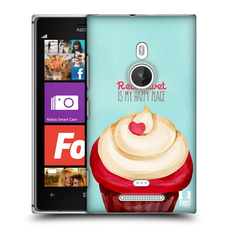 Plastové pouzdro na mobil Nokia Lumia 925 HEAD CASE CUPCAKE RED VELVET (Kryt či obal na mobilní telefon Nokia Lumia 925)