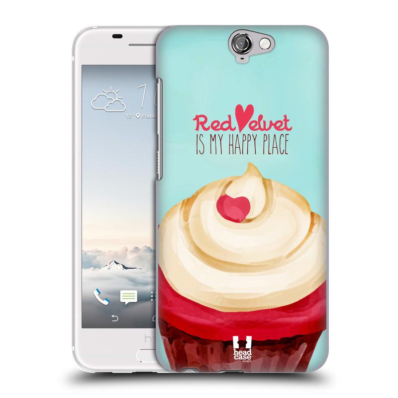 Plastové pouzdro na mobil HTC One A9 HEAD CASE CUPCAKE RED VELVET (Kryt či obal na mobilní telefon HTC One A9)
