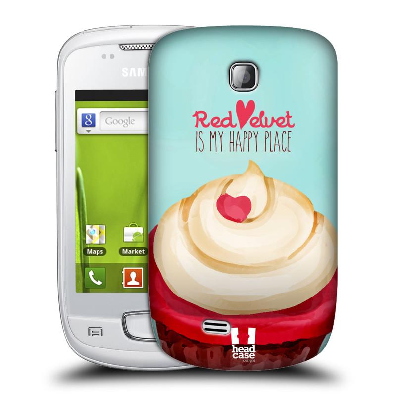 Plastové pouzdro na mobil Samsung Galaxy Mini HEAD CASE CUPCAKE RED VELVET (Kryt či obal na mobilní telefon Samsung Galaxy Mini GT-S5570 / GT-S5570i)