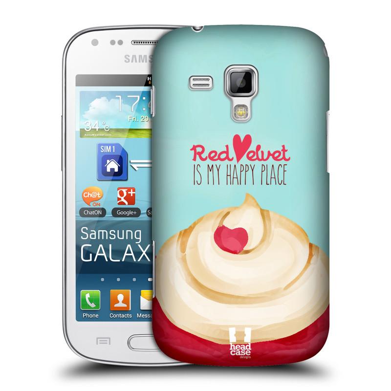Plastové pouzdro na mobil Samsung Galaxy Trend HEAD CASE CUPCAKE RED VELVET (Kryt či obal na mobilní telefon Samsung Galaxy Trend GT-S7560)