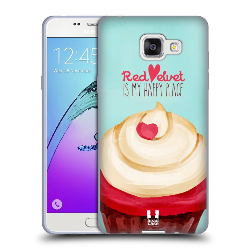 Silikonové pouzdro na mobil Samsung Galaxy A5 (2016) HEAD CASE CUPCAKE RED VELVET (Silikonový kryt či obal na mobilní telefon Samsung Galaxy A5 (2016) SM-A510F)
