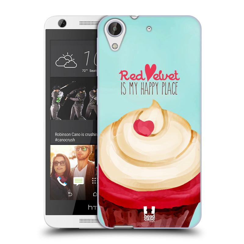 Silikonové pouzdro na mobil HTC Desire 626 / 626G HEAD CASE CUPCAKE RED VELVET (Silikonový kryt či obal na mobilní telefon HTC Desire 626 a 626G Dual SIM)
