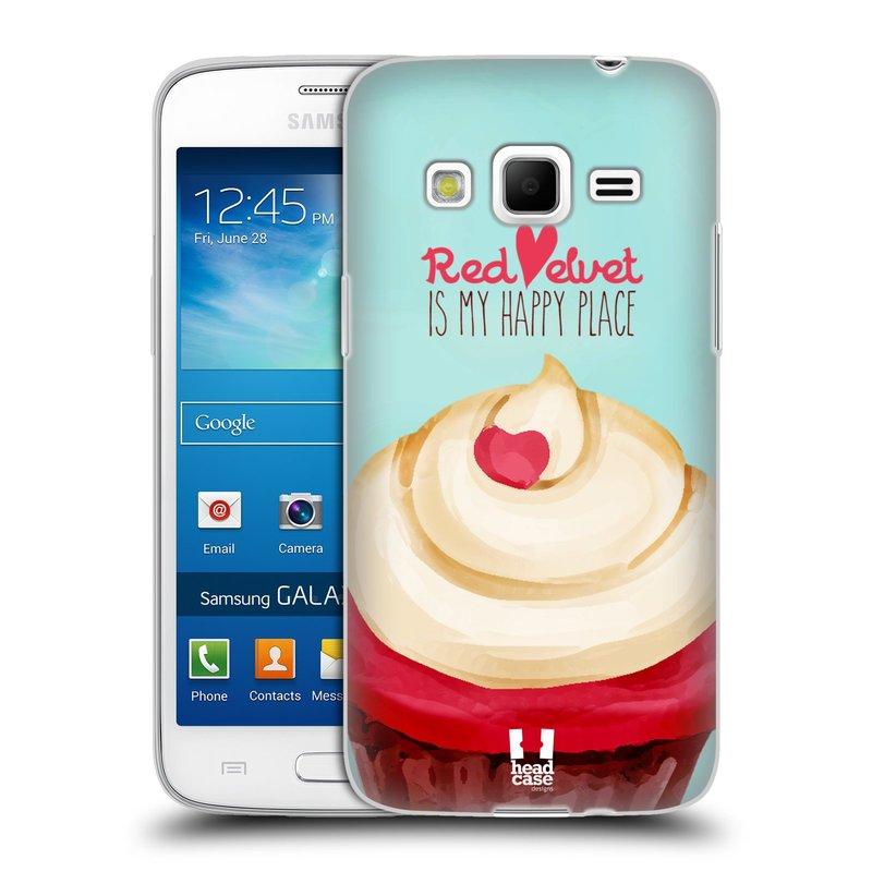 Silikonové pouzdro na mobil Samsung Galaxy Express 2 HEAD CASE CUPCAKE RED VELVET (Silikonový kryt či obal na mobilní telefon Samsung Galaxy Express 2 SM-G3815)