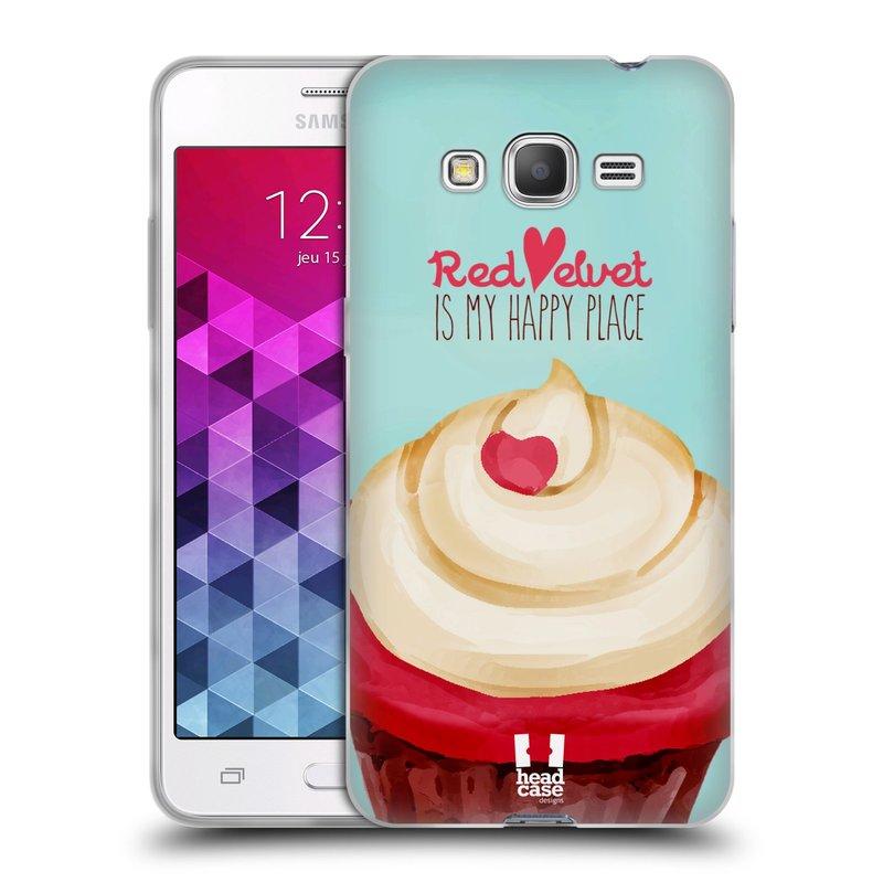 Silikonové pouzdro na mobil Samsung Galaxy Grand Prime HEAD CASE CUPCAKE RED VELVET (Silikonový kryt či obal na mobilní telefon Samsung Galaxy Grand Prime SM-G530)