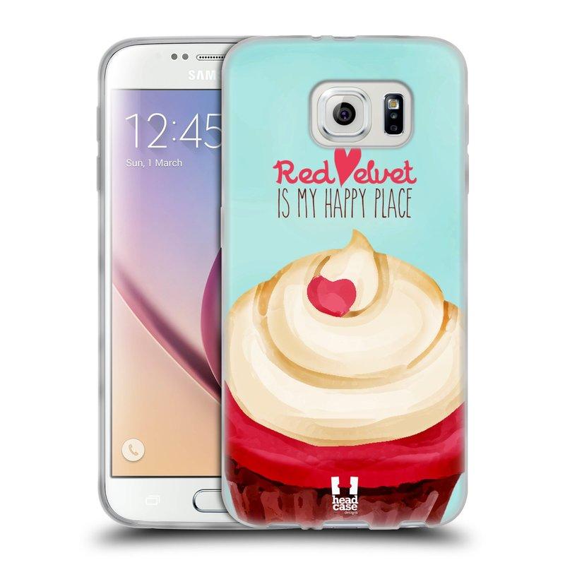 Silikonové pouzdro na mobil Samsung Galaxy S6 HEAD CASE CUPCAKE RED VELVET (Silikonový kryt či obal na mobilní telefon Samsung Galaxy S6 SM-G920F)