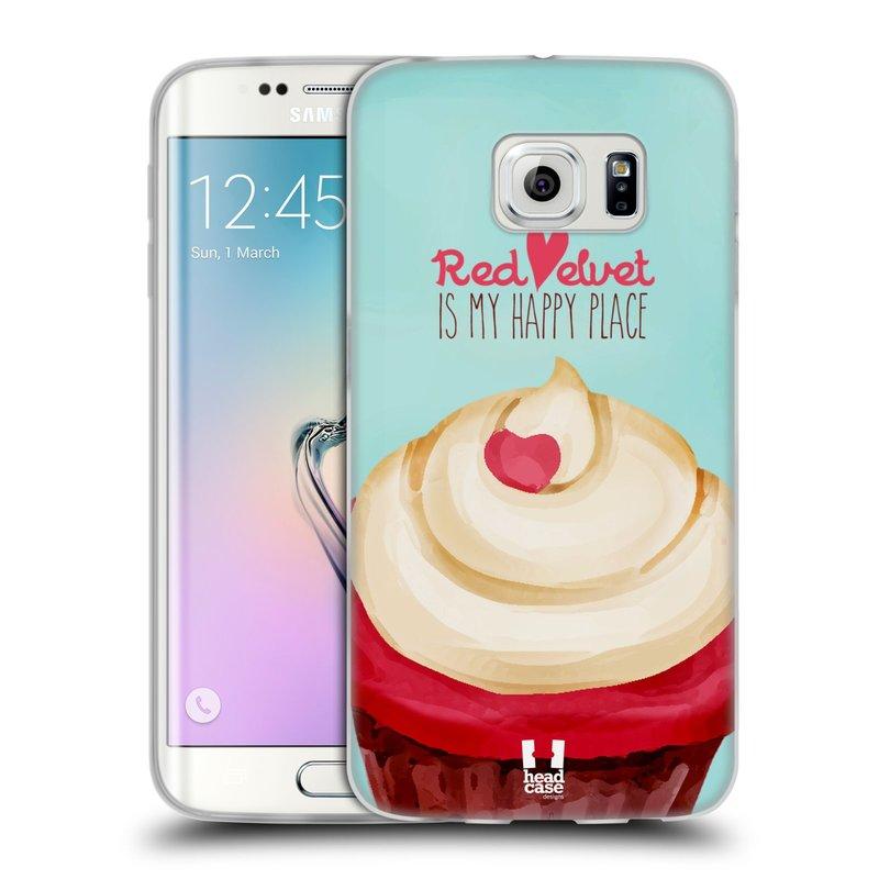 Silikonové pouzdro na mobil Samsung Galaxy S6 Edge HEAD CASE CUPCAKE RED VELVET (Silikonový kryt či obal na mobilní telefon Samsung Galaxy S6 Edge SM-G925F)