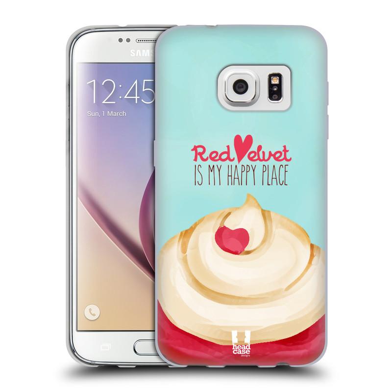Silikonové pouzdro na mobil Samsung Galaxy S7 HEAD CASE CUPCAKE RED VELVET (Silikonový kryt či obal na mobilní telefon Samsung Galaxy S7 SM-G930F)