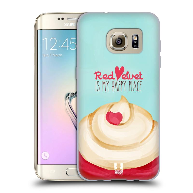 Silikonové pouzdro na mobil Samsung Galaxy S7 Edge HEAD CASE CUPCAKE RED VELVET (Silikonový kryt či obal na mobilní telefon Samsung Galaxy S7 Edge SM-G935F)