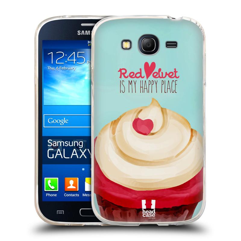 Silikonové pouzdro na mobil Samsung Galaxy Grand Neo HEAD CASE CUPCAKE RED VELVET (Silikonový kryt či obal na mobilní telefon Samsung Galaxy Grand Neo GT-I9060)