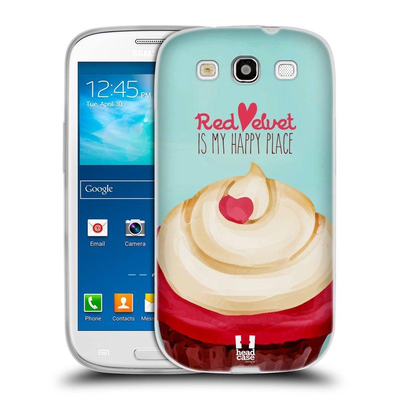 Silikonové pouzdro na mobil Samsung Galaxy S III HEAD CASE CUPCAKE RED VELVET (Silikonový kryt či obal na mobilní telefon Samsung Galaxy S III GT-i9300)
