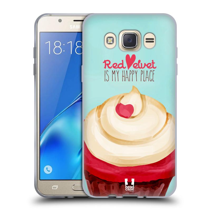 Silikonové pouzdro na mobil Samsung Galaxy J7 (2016) HEAD CASE CUPCAKE RED VELVET (Silikonový kryt či obal na mobilní telefon Samsung Galaxy J7 (2016) SM-J710)