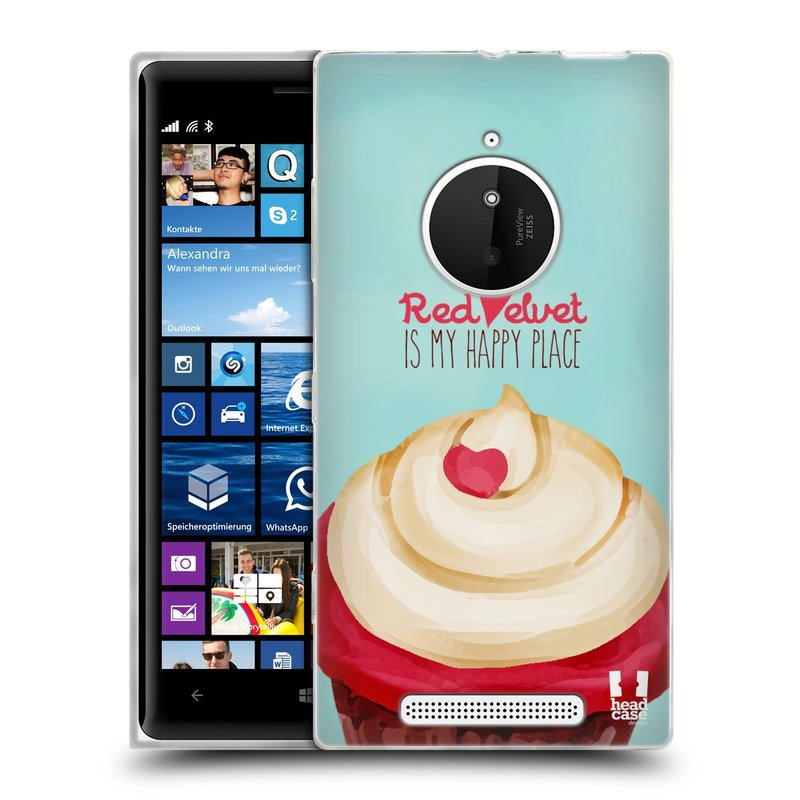 Silikonové pouzdro na mobil Nokia Lumia 830 HEAD CASE CUPCAKE RED VELVET (Silikonový kryt či obal na mobilní telefon Nokia Lumia 830)