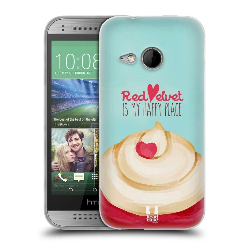 Silikonové pouzdro na mobil HTC ONE Mini 2 HEAD CASE CUPCAKE RED VELVET (Silikonový kryt či obal na mobilní telefon HTC ONE Mini 2)