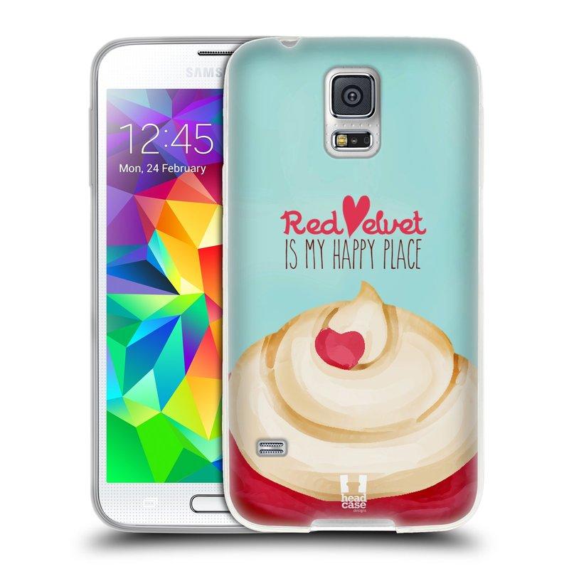 Silikonové pouzdro na mobil Samsung Galaxy S5 HEAD CASE CUPCAKE RED VELVET (Silikonový kryt či obal na mobilní telefon Samsung Galaxy S5 SM-G900F)