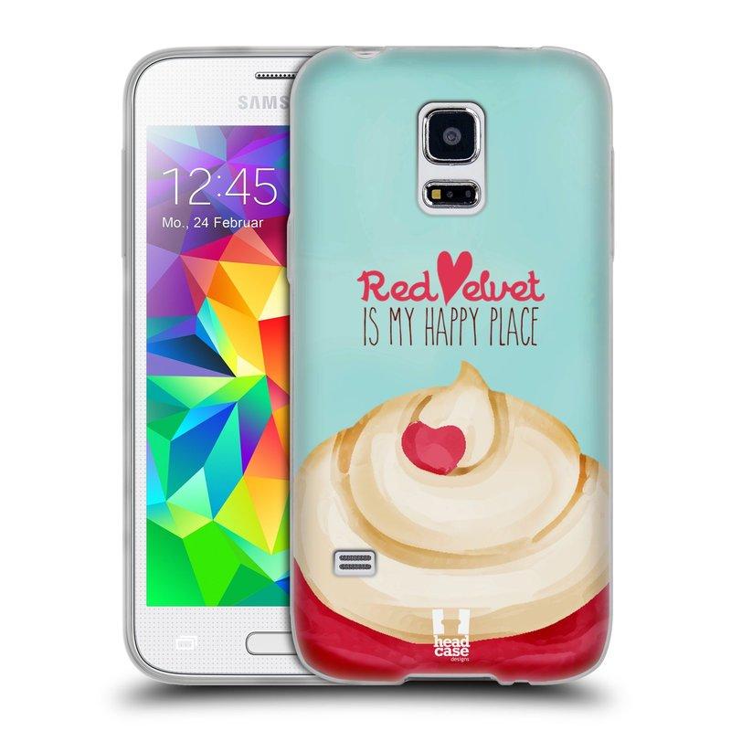 Silikonové pouzdro na mobil Samsung Galaxy S5 Mini HEAD CASE CUPCAKE RED VELVET (Silikonový kryt či obal na mobilní telefon Samsung Galaxy S5 Mini SM-G800F)