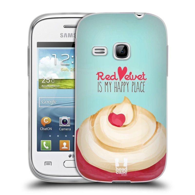Silikonové pouzdro na mobil Samsung Galaxy Young HEAD CASE CUPCAKE RED VELVET (Silikonový kryt či obal na mobilní telefon Samsung Galaxy Young GT-S6310)