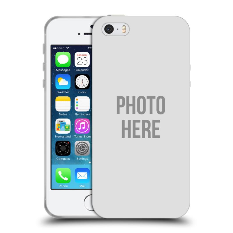 Silikonové pouzdro na mobil Apple iPhone SE, 5 a 5S HEAD CASE s vlastním motivem (Silikonový kryt či obal s vlastní fotografií na mobilní telefon Apple iPhone SE, 5 a 5S)